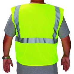 High Visibility Safety Vest ANSI/ISEA Class 2 Retro-Reflective Stripes